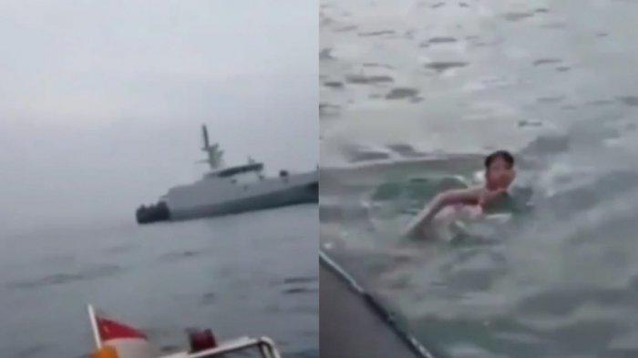 Viral Bocah Lelaki Terombang-ambing di Laut Sendirian, Personel TNI AL Kaget Dengar Pengakuan Korban