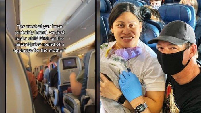 Viral Wanita Melahirkan Prematur di Pesawat, Sang Ibu Tak Tahu Sedang Hamil