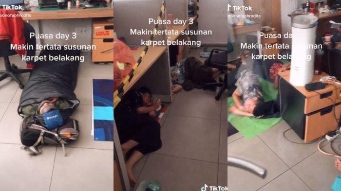 Puasa Hari ke-3, Pegawai di Jakarta Barat Ini Tidur Siang di Kantor Bawa Sleeping Bag dan Bantal