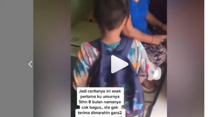 Viral Video Anak 5 Tahun Mau Minggat Gegara Dimarahi, Barang-barang Bawaannya Buat Sang Ibu Ngakak