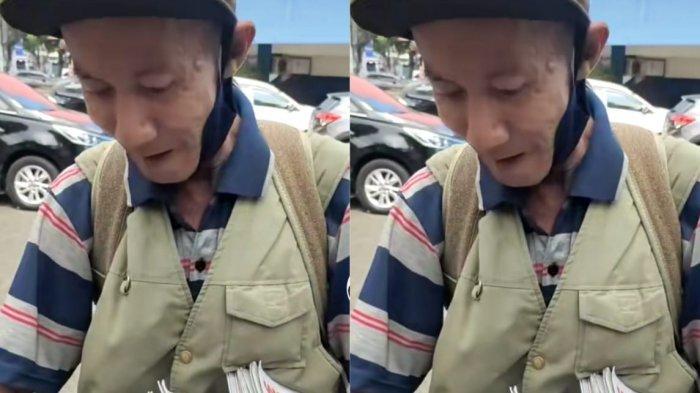 Mengharukan, Viral Video Kakek Penjual Koran Menangis Diberi Pembeli Uang Lebih: Bapak Baik Banget