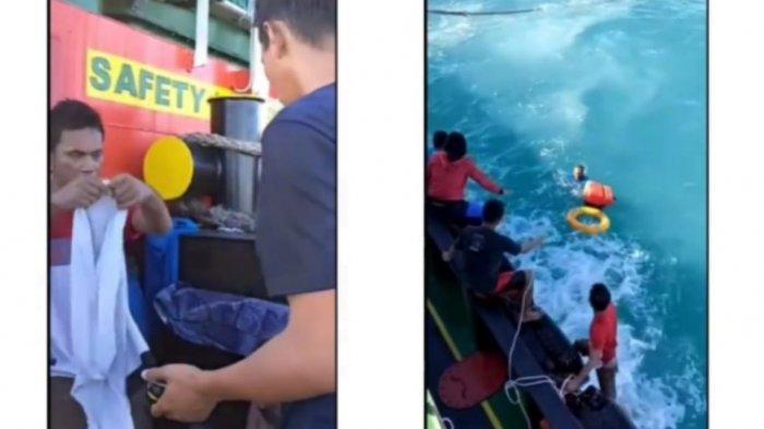 Viral video penyelamatan nelayan di perairan Lubuk Besar.