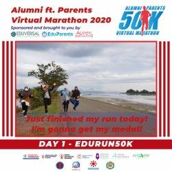 Alumni dan Orangtua Eduversal Gelar Virtual Marathon 2020