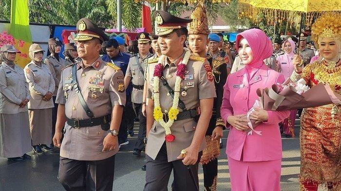 Kapolda Aceh yang baru, Irjen Pol Wahyu Widada saat tiba Mapolda Aceh, Selasa (18/2/2020)