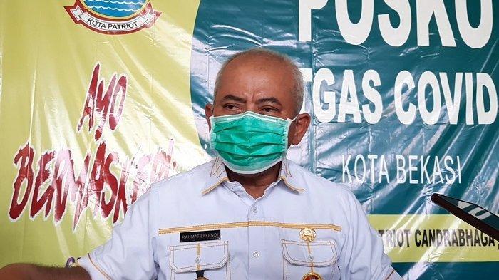 Wali Kota Bekasi Rahmat Effendi saat dijumpai di Posko Satgas Covid-19 Stadion Patriot Candrabhaga Kota Bekasi, Selasa (22/6/2021).