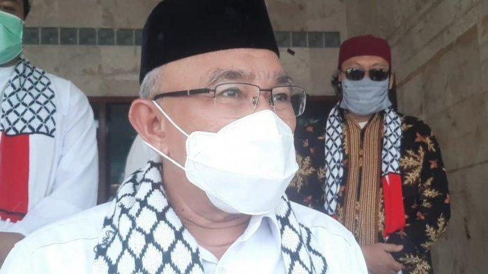 Wali Kota Depok, Mohammad Idris, saat dijumpai wartawan di Kantor MUI Depok, Rabu (19/5/2021).