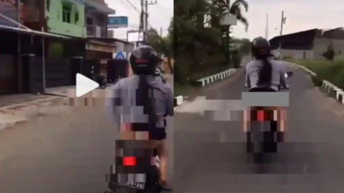 Viral Video Wanita Pamer Celana Dalam saat Naik Motor, Polisi Ungkap Identitas: Klarifikasi Mbak