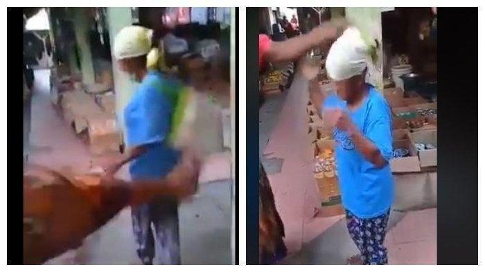 Viral Perempuan Dapat Perlakuan Kasar hingga Ditendang, Diduga Mencuri di Pasar Gendeng Sleman DIY