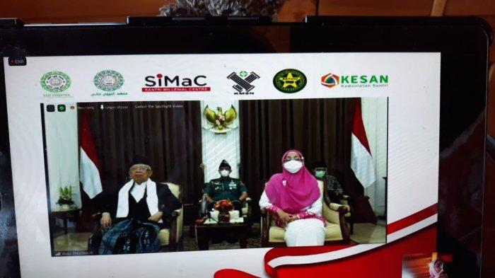 Peringati HSN 2020, Wapres Maruf Amin Resmikan 5 Program Gerakan Santri