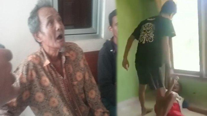 Viral Video Cucu Tendangi Kakek, Korban Mohon Sambil Nangis Agar Pelaku Tak Ditahan: Mau Dia Pulang