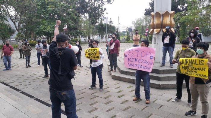 Buntut Aksi Arogansi Kadispora Tangsel,Wartawan Demo Tuntut Sikap Tegas dari Wali KotaBenyamin
