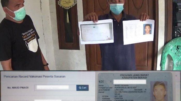 NIK KTP Dicatut WNA Bernama Lee In Wong, Warga Cikarang Terpaksa Diberikan Sertifikat Vaksin Manual