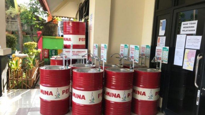 PPSU Tugu Selatan Buat Wastafel Portable untuk Cuci Tangan Warga di Tengah Pandemi Covid-19