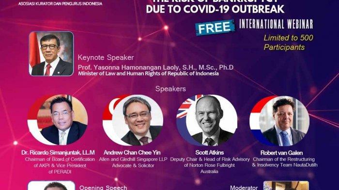 AKPI Gelar Webinar Internasional Bahas Praktek Restrukturisasi Utang di Indonesia