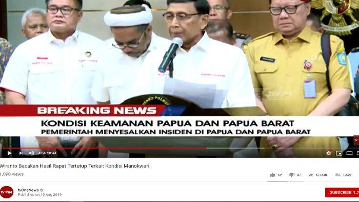 Soroti Permintaan Maaf Khofifah ke Gubernur Papua, Wiranto Singgung Soal Tulus dan Ikhlas