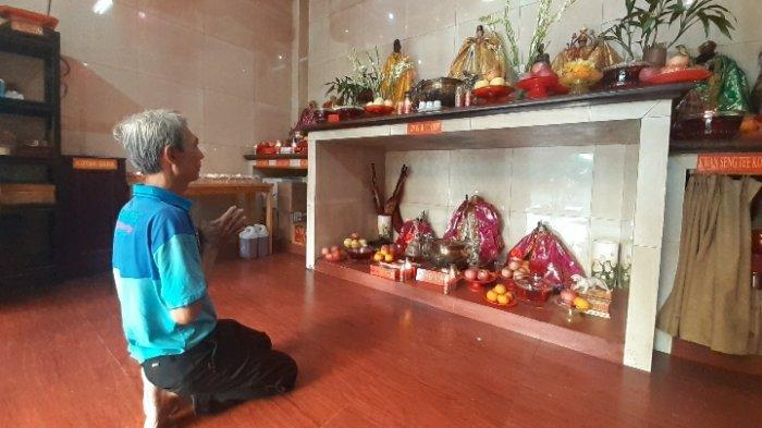 Sepinya Imlek di Wihara Sidharta Pondok Aren, Hanya Pengurus yang Sembahyang