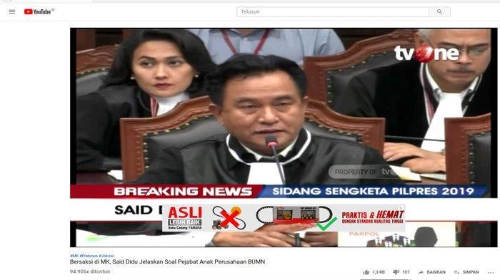 Sebut Ada Kesaksian Palsu, Yusril: Kami Bisa Tanya ke Pak Jokowi & Maruf, Ini Sidang Sudah Selesai