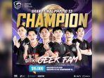 Geek Fam Juara PUBG Mobile Pro League PMPL Indonesia Season 3, BTR RA Runner-up