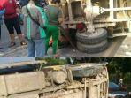 kendaraan-truk-light-bermuatan-batu-f-8035-hg-terguling-di-jalan-sultan-hasanudin.jpg