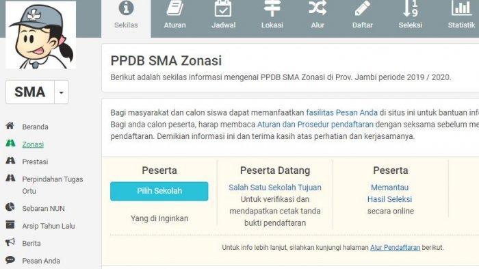 Syarat & Link Pendaftaran PPDB Online SMA SMK Jambi 2019 di ppdb.com, Daftar Mulai 1 Juli 2019