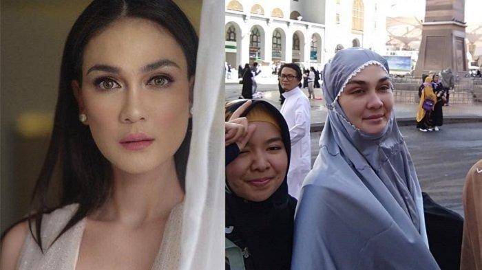 Potret Cantik Luna Maya Pakai Hijab Jadi Sorotan, Didoakan Umroh Bareng Calon Suami: Dapat Jodoh Ya!