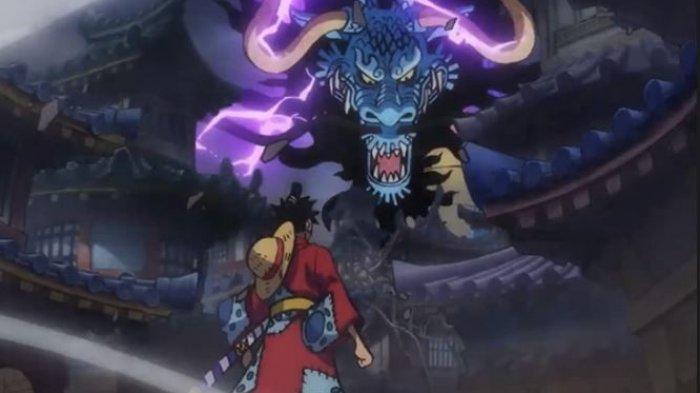 Monkey D Luffy berhadapan dengan Kaido di Mmanga One Piece