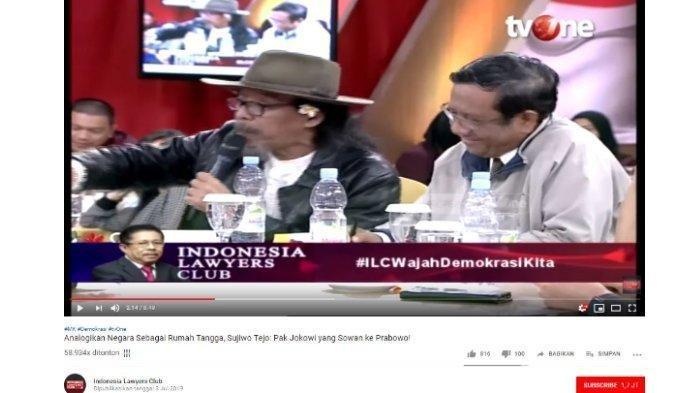 Sudjiwo Tedjo Sebut Mahfud MD Pro Jokowi & Karni Ilyas Pro Prabowo saat di ILC, Benarkah?
