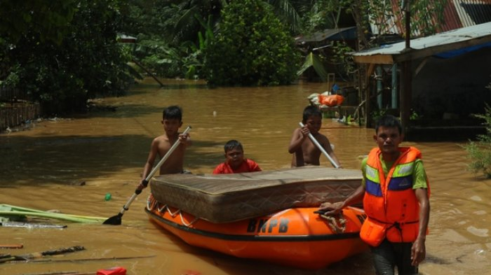 Jadi Langganan Banjir, Pemkab Muarojambi Siapkan Posko dan Lokasi Pengungsian Korban Banjir
