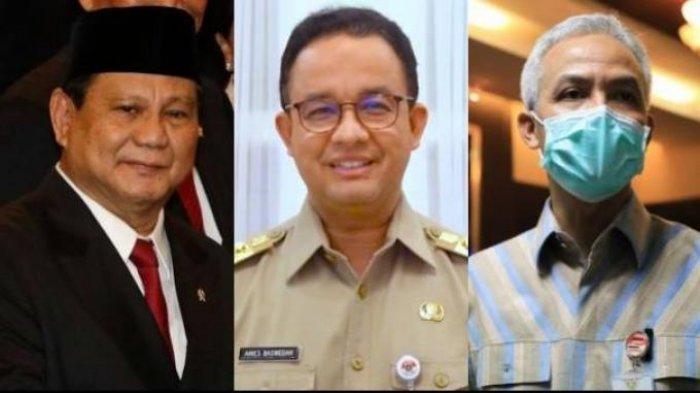 Prabowo, Anies Baswedan dan Ganjar Pranowo di Survei Capres Litbang Kompas Peringkat Sandiaga & AHY?