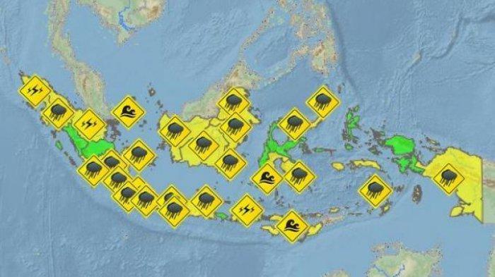 Update Peringatan Dini BMKG Jumat 6 Agustus 2021: Awas Cuaca Ekstrem Hujan Lebat di 12 Wilayah Ini!