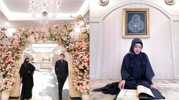 Penampilan Syahrini yang Berhijab Tampak Anggun, Tetap Kenakan Hijab Saat Launching Resto Baru