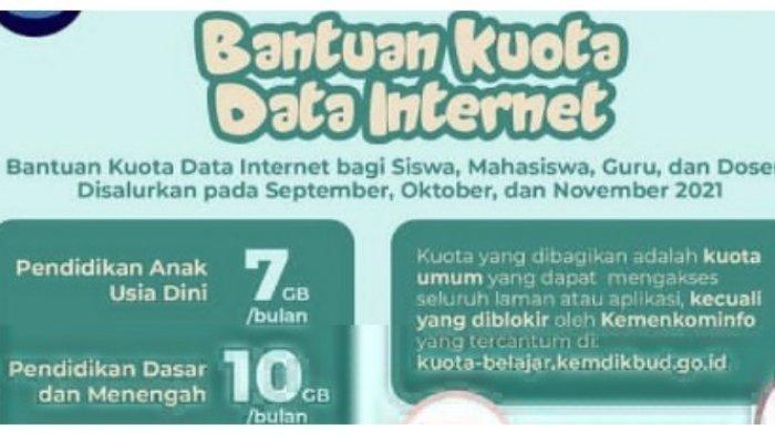 Cara Mendapat Kuota Internet dari Kemendikbud 2021, Siswa SD 10GB per Bulan