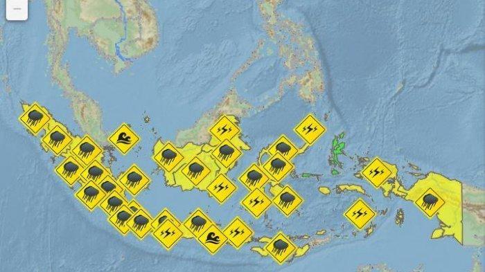 Peringatan Dini Cuaca Ekstrem BMKG Sabtu 6 Februari 2021, Waspada Hujan di 21 Wilayah Ini!