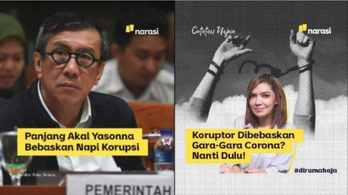 Dituding Provokasi Yasonna Laoly Soal Pembebasan Napi Korupsi, Najwa Shihab: Gunakan Hak Warga