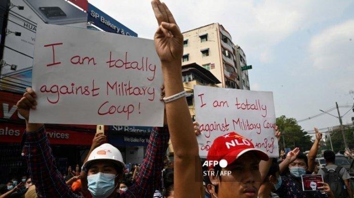 Myanmar Mencekam, Massa Turun ke Jalan Protes Kudeta Militer dan Penangkapan Aung San Suu Kyi