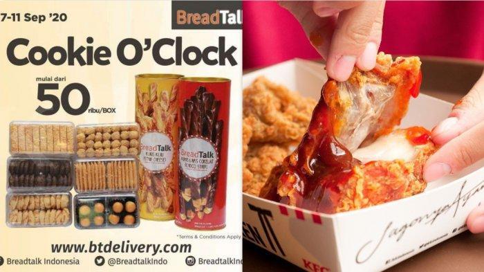 Promo BreadTalk dan KFC sampai 13 September 2020 - Mau Cookies atau Paket Ayam?