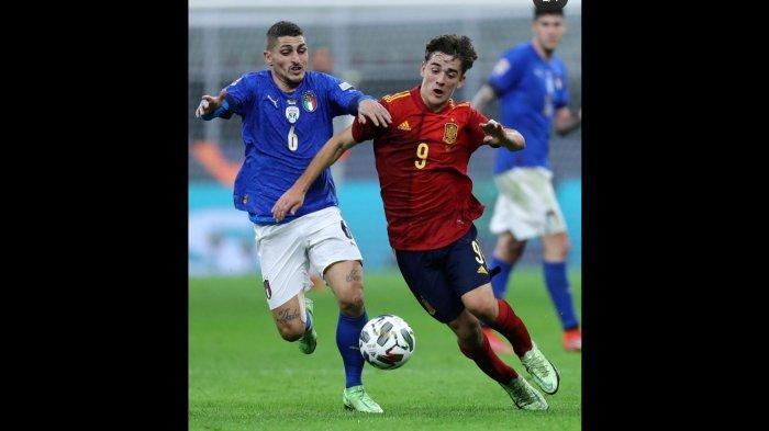 Bintang Muda Barcelona Gavi Cetak Rekor Saat Spanyol Tekuk Italia 1 - 2