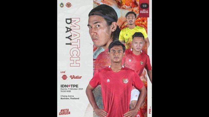 H2H Timnas Indonesia vs Taiwan, Pernah Menang 10-1 untuk Skuat Garuda