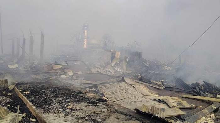 Langgar At-Taqwa Tak Ikut Tersambar Api yang Membakar 120 Rumah di Tanjab Timur Jambi Selasa Pagi