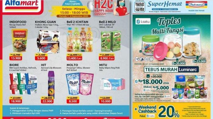 Promo Alfamart & Indomaret Sampai 15 September 2020 - Toples, Kebutuhan Rumah Tangga, Snack, Susu