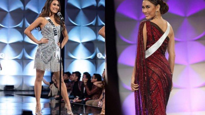 MASUK 10 Besar Miss Universe 2019, Frederika Alexis Cull Sempat Terpeleset dan Pakai Kostum 10 Kg