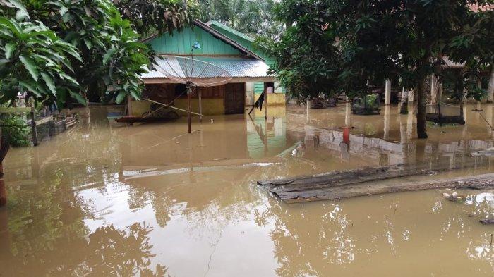 Banjir, Warga Aburan Bertahan di Dalam Rumah yang Terendam