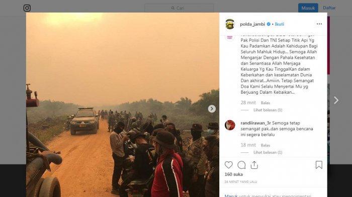 Update Pukul 13.30 WIB, 100 Pasukan TNI-Polri Tambahan Dikirim ke Muarojambi untuk Pemadaman