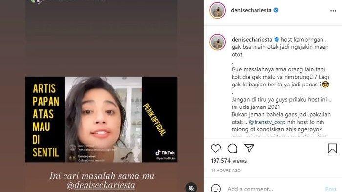 Denise Chariesta sebut Dewi Perssik kampungan