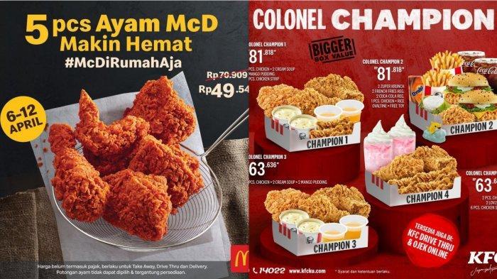 Promo McD & KFC - Colonel Champion, Wonger Party atau 5 ...