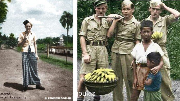 Begini Jadinya Kalau Foto Hitam Putih Jaman Kolonial Belanda Dijadikan Berwarna, Luar Biasa!