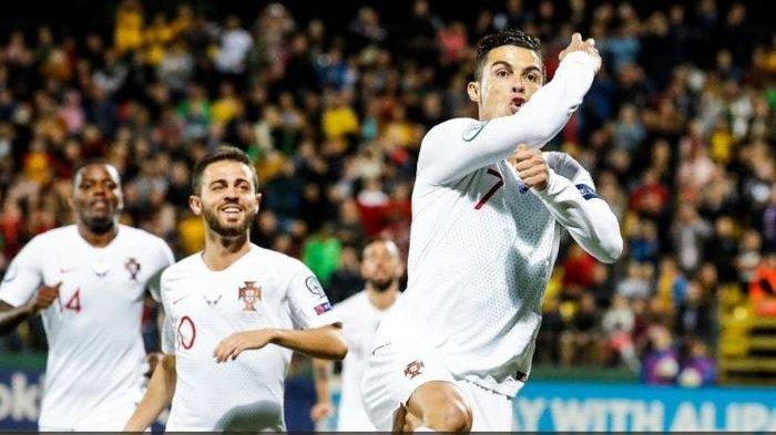Hasil Kualifikasi Euro 2020 - Bertabur Gol Lituania 1-5 Portugal, Inggris 5-3 Kosovo
