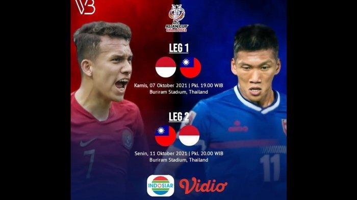 Link Nonton dan Prediksi Pertandingan Leg Kedua Indonesia vs Taiwan Malam Ini