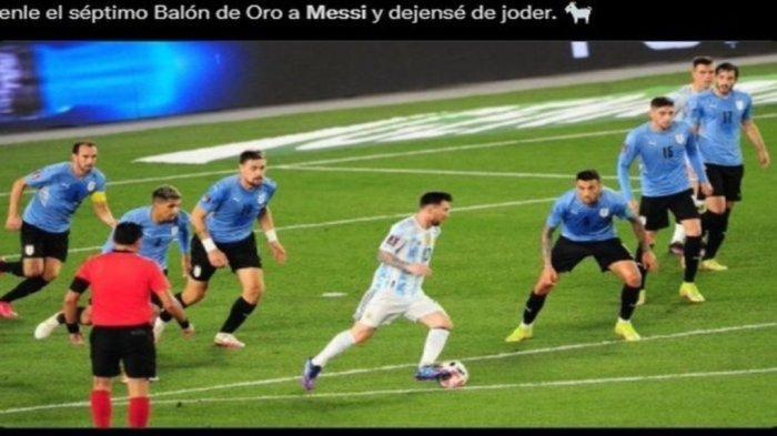 Argentina 3 - 0 Uruguay di Kualifikasi Piala Dunia, Lionel Messi Cetak Gol Ajaib