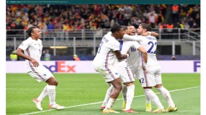 Prancis Juara UEFA Nations League, Usai Kalahkan Spanyol 1 - 2 di Final